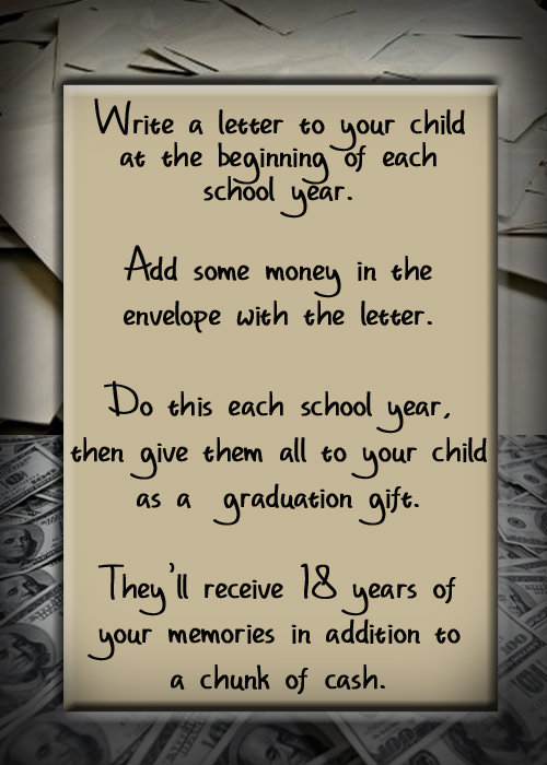 Write a Letter to Your Child For Graduation – organizedCHAOSonline